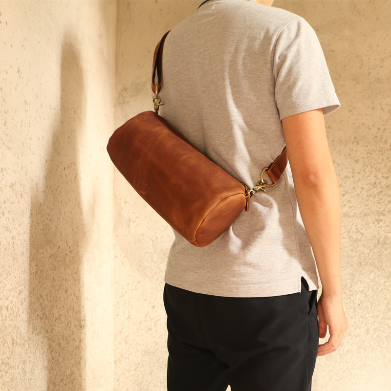 Leather Men's Leather Bags Leather Casual Waist Bags High-quality Waist Belt Waist Bags ipad Bags High-end Luxury