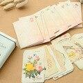 4 set/lote pacote de caixa da lata Do Vintage Mensagem 15 peças adesivos para o cartão do convite da festa de Casamento Obrigado Mensagem zakka 6914