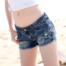 2016 summer new denim shorts Korean trend denim shorts were thin washed washed shorts 9907
