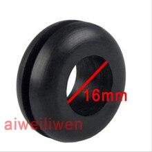 Внутренний диаметр 16 мм черный двустороннее ПВХ защитное кольцо резиновая Провода кольцо поездки перегрузки по току катушки двусторонний катушки гвардии катушки