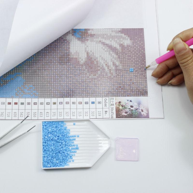 DIY 5D Diamond ფერწერა ყვავილები - ხელოვნება, რეწვა და კერვა - ფოტო 2