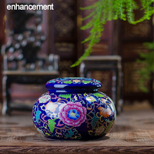 Jingdezhen Antique Enamel Ceramic Tea Jar Tea Caddy Canister Portable Travel Storage Bottles Sealed Tank Jar Food Candy Jar