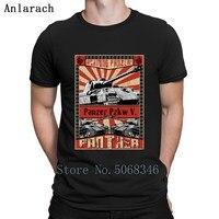 Танки пантера Achtung Panzer футболка тренд Летний стиль фитнес новый стиль Пользовательские Короткий рукав мужские рубашки
