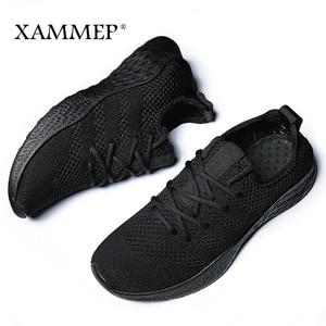 Image 5 - Кроссовки Xammep мужские сетчатые, повседневные брендовые сникерсы на плоской подошве, лоферы без застежки, дышащие, большие размеры, весна/осень/зима