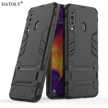 For Samsung Galaxy A60 Case Rubber Robot Armor Shell Hard PC Back Phone Cover for