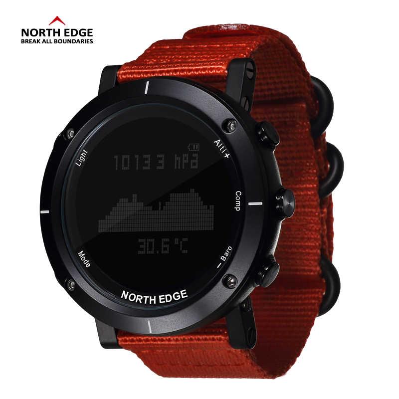 Северная режущая кромка мужские спортивные часы альтиметр барометр термометр компас монитор сердечного ритма шагомер цифровые беговые часы для альпинизма