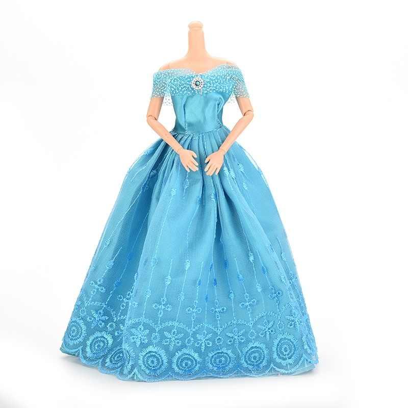 Зеленое/синее кружевное Вечерние вечернее платье, юбка-баллон, одежда, аксессуары для 1/6 BJD для куклы, аксессуары для детей, подарки