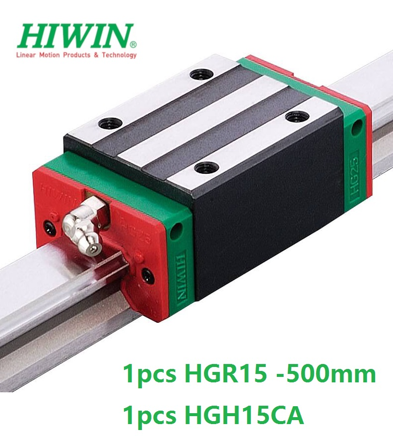 все цены на 1pcs 100% original Hiwin linear rail linear guide HGR15 -L 500mm + 1pcs HGH15CA linear narrow block cnc router онлайн