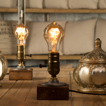 Dimmer luminária industrial, luminária para mesa decorativa vintage, luz de edison, lâmpada de mesa retrô, decoração para casa, iluminação, antiga, exibição de arte