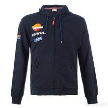 Новый для мужчин Moto GP Repsol толстовки для Honda HRC rcycle Hoodie Endurance Racing Zip Up Толстовка rbike куртка