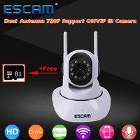Antena dupla HD 720 P Wi-fi Câmera PTZ Pan/Tilt WiFi IP IR câmeras ONVIF Apoio Max até 128 GB de Vídeo Monitor de Vigilância ESCAM G02
