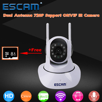 Dual Antenna HD 720P PTZ Wifi Camera Pan Tilt WiFi IP IR Cameras Support ONVIF Max