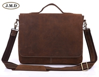 2013 New JMD Vintage Tan Real Cow Leather Men S Briefcase Laptops Handbag Messenger Bags Factory