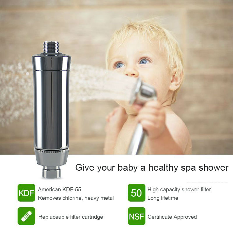 2pcs/lot SPA Shower Water Filters No Hair Loss No Chlorine Healthy Skin Care Shower head Water Filters Soft Water Free Shipping