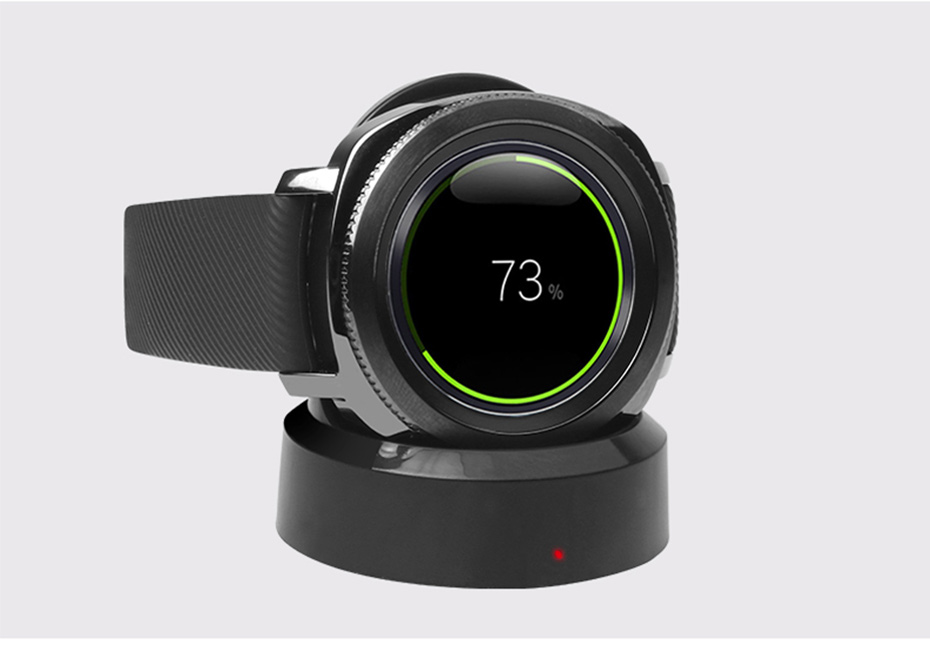 High Quality Wireless Charging Dock Charger Smart Watch Magnetic Adsorption Charging Satnd for Samsung Gear Sport Smart Watch (7)