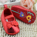 Сначала Ходунки Детские детская Обувь для Девочек Мягкое Дно Обувь Малыша Обувь Сверкающих Детская Обувь Красный