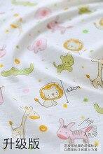 Cotton  Gauze Baby Cartoon Fabric Clothes Nappy Yarn
