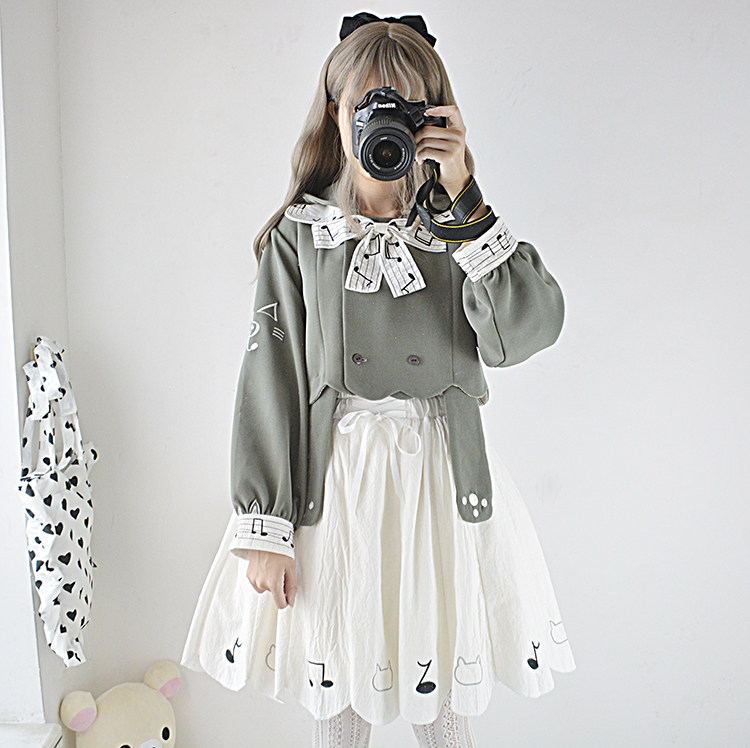 1086c5b43823 Online Shop Harajuku Girl Cute Gloomy Bunny 2pcs Women s Set  Long ...