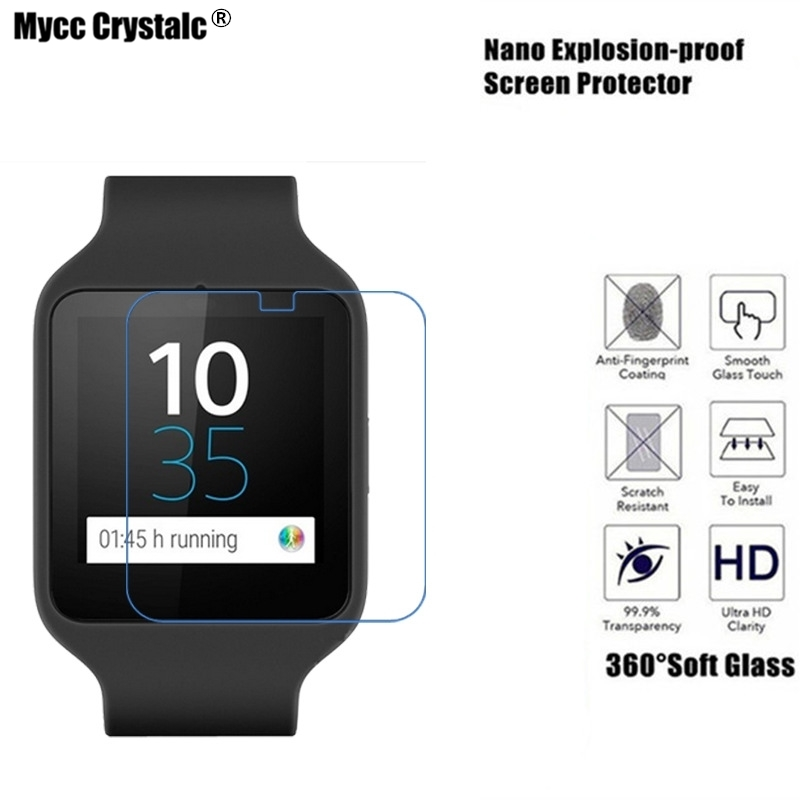 6b4c6dfc0 Detail Feedback Questions about Mycc crystalc Soft Glass Protection Film For  Sony Xperia SmartWatch 3 SWR50 Film Nano Explosion proof Screen Protector on  ...