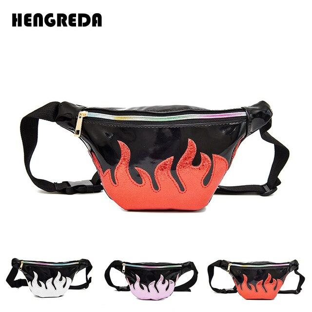 6e7ac949e0 US $8.4 40% OFF|Women Holographic Fanny Pack 2018 Fire Bum Bag Laser Hip  Bag Hengreda Hologram Shiny Neon Waist Bag Purse for Travel Beach -in Waist  ...