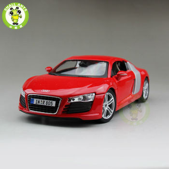 1/18 R8 Sports Racing Diecast Metal Car Model Maisto Red color image