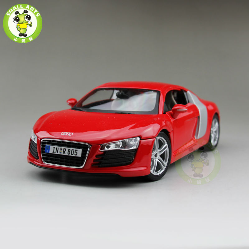 1/18 Audi R8 Sports Racing Diecast Metal Car Model Maisto Red color