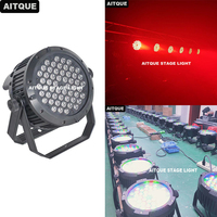 12pcs/lot Outdoor disco light par led 54 leds 3w rgbw par can ip65 stage light led par light ip65 54x3w