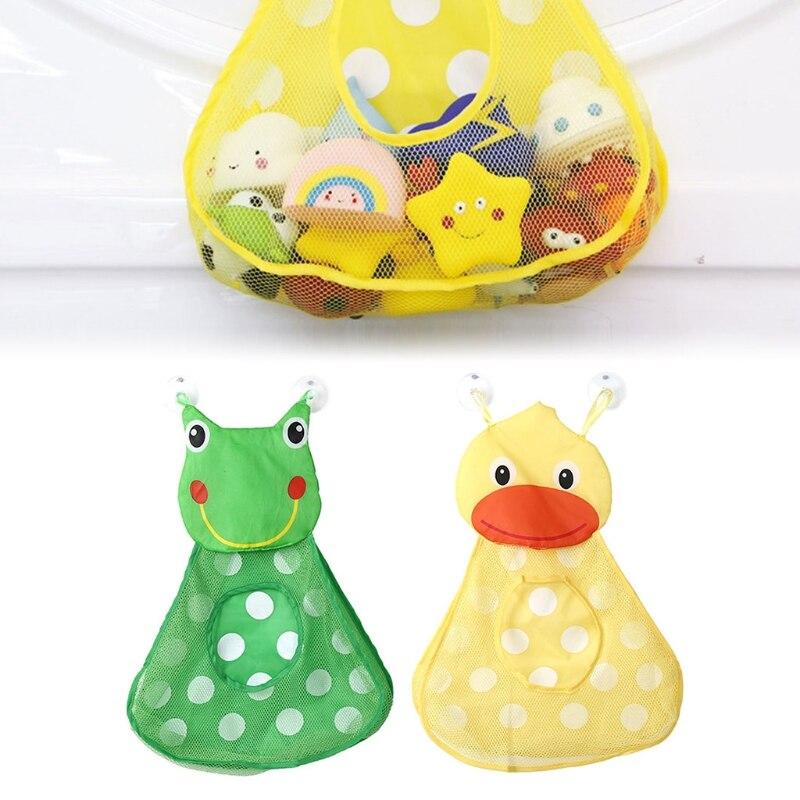 Forg Duck Mesh Bag Cute Animal Mesh Net Storageer For Children Beach Small Toys