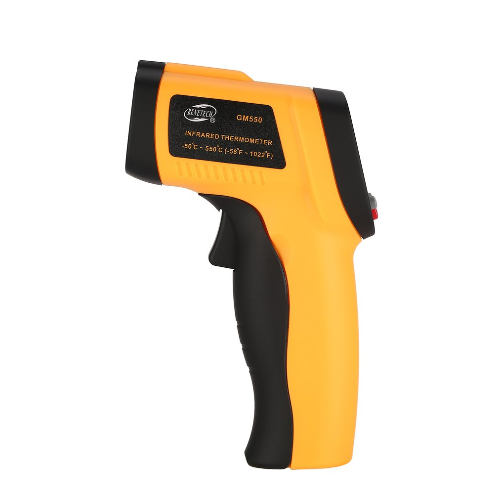 BENETECH Digital GM550 Infrared Non Contact Infrared Thermometer Temperature Pyrometer IR Laser Point Gun -50~550 Degree