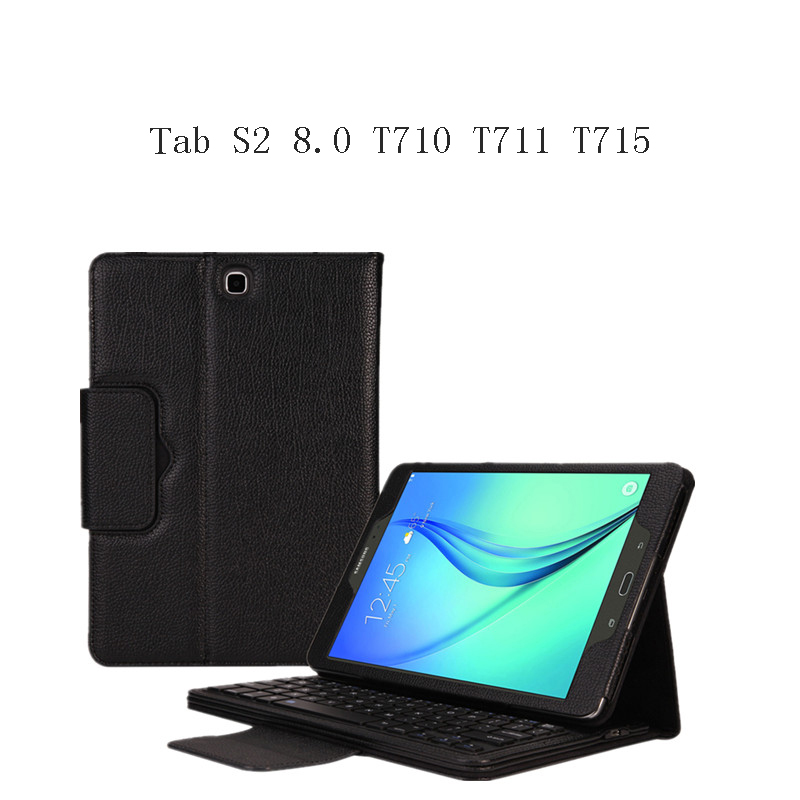 For Samsung Galaxy Tab S2 8.0 T710 T711 T715 Tablet Portable Bluetooth Keyboard Portfolio Muti-angle Folio PU Leather Case Cover цены