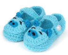 1 пара милый мода мягкие мальчиков девушки цвета мультфильм свинья руководство вязать малыша обувь детская кроватка обувь 11 см