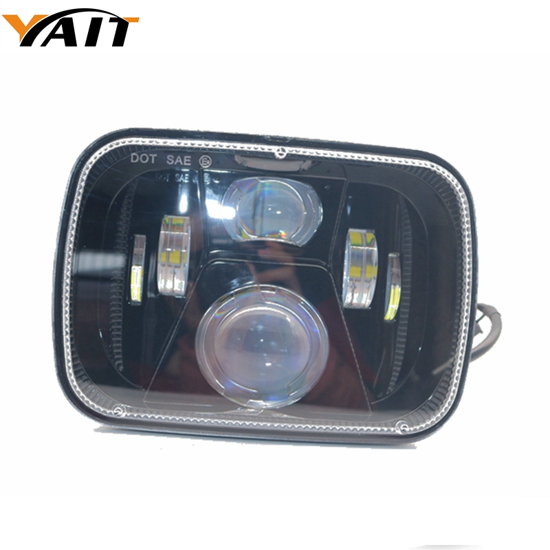 1pcs 5x7 7x6 Inch LED Headlight 7 Inch 55w Headlamp Replacements For 1986-1995 Jeep Wrangler YJ and 1984-2001 Jeep Cherokee XJ