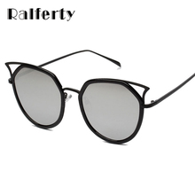 Ralferty 2017 Vintage Cat Eye Sunglasses Women Mirrored Sun Glasses UV400 Eyewear Female Sunglases lunette de soleil femme A1163