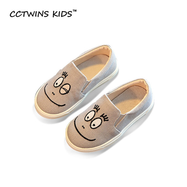 CCTWINS KIDS 2017 Spring Autumn Boy Black Casual Shoe Children Baby Girl Slip On Loafer Fashion Toddler Walking Slipper F1297