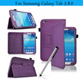Tab3 T310 Case PU Leather Cover for Samsung Galaxy Tab 3 8.0 Case Tablet Stand Cover Case for Samsung Galaxy Tab 3 8.0 inch