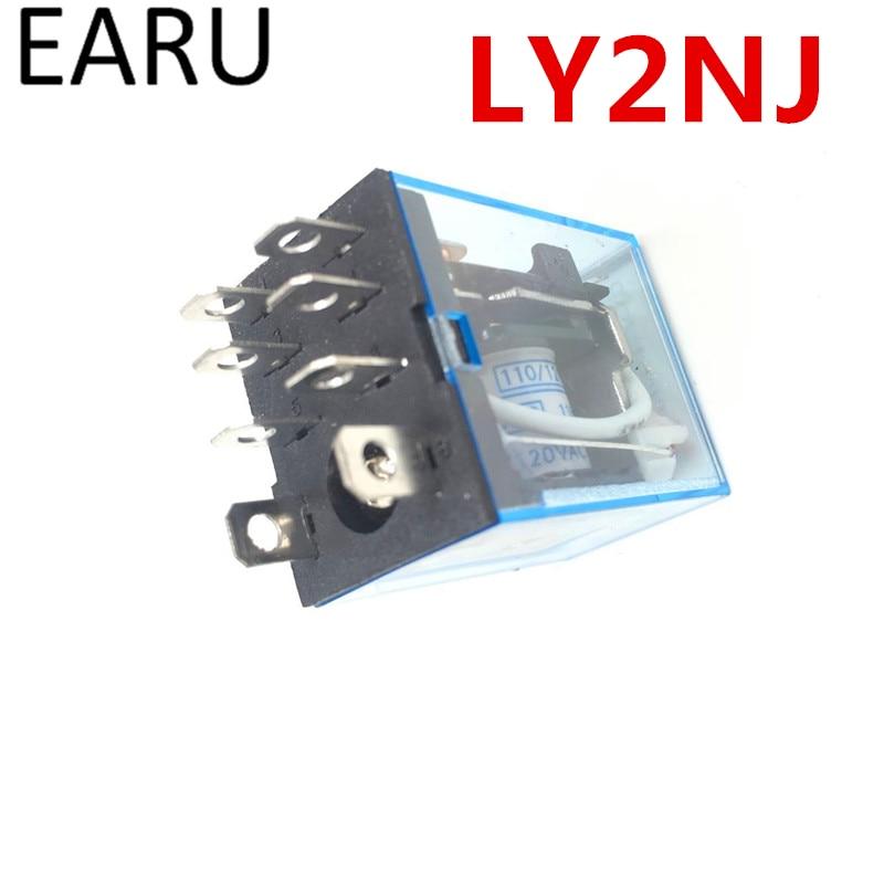 Free Shipping 1Pc LY2NJ HH62P HHC68A-2Z Electronic Micro Mini Electromagnetic Relay 10A 8PIN Coil DPDT DC12V,24V AC110V 220V Hot