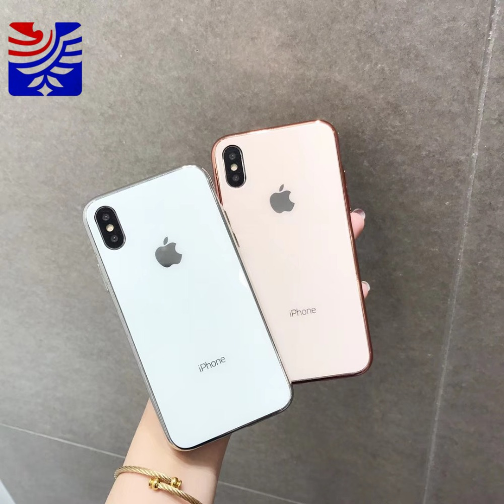 PEIPENG Luxury made of electroplated glass Anti-fall Phone Cases For iphone 6 6S 7 8 Plus X Xs Max Christmas gift Girl Simple and stylish16