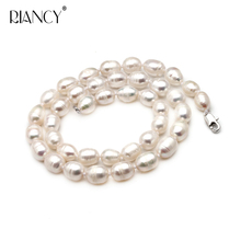 Natural Pearl Necklace wholesale  Freshwater Female 40cm 45cm 50cm 55cm 60cm Rice necklace for Mother