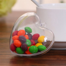 20pcs Plastic DIY Candy Box Wedding Gift Lovely Heart Shape Chocolate Boxes And Bags Birthday Baby Shower Decoration