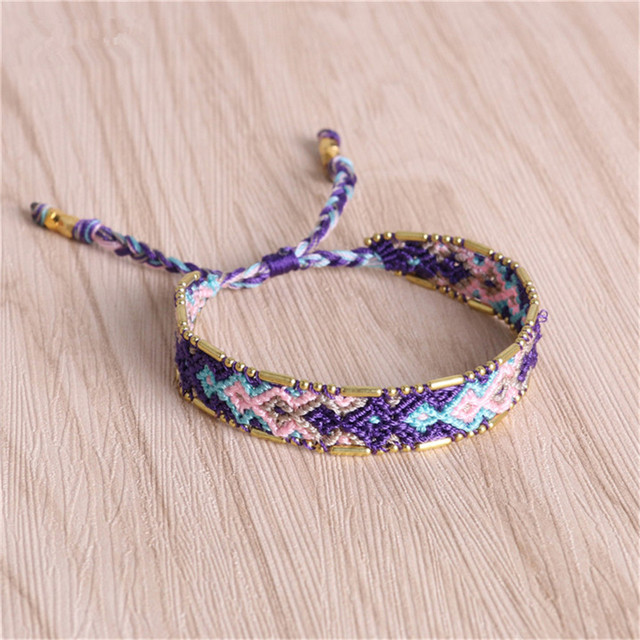 C Quan Chi Bracelets Jewelry Bohemia Multi Color Woven Braided Friendship Charms Beaded