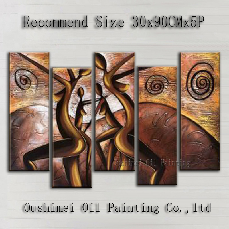 Superb Artist Handmade High Quality Modern Impression Nude Lady Oil Painting On Canvas Naked Dancer Oil Painting For Living Room
