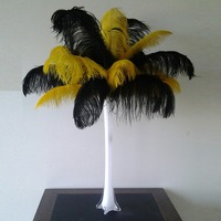 50cm tall clear glass vases for centerpieces for weddings decoration ostrich feather flowers