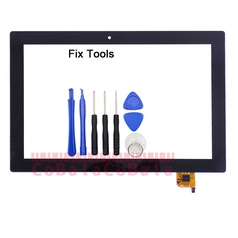 LOVAIN 1Pcs Original For Lenovo ideapad Miix 310 Miix310-10ICR 10.1 Touch Screen Digitizer LCD Outer Front Glass Sensor+Tools 10 1 inch touch screen digitizer glass panel replacement parts with frame for lenovo miix 310 10icr miix310 miix 310