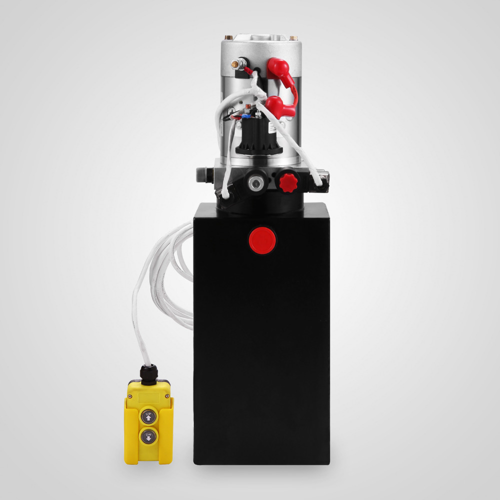 Double Acting Hydraulic Pump 12v Dump Trailer-8 Quart Metal Reservoir For Dump Trailer