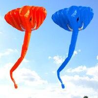 380*200cm High Quality 3D Elephant Kite Soft Frameless Kite Single Line Kite Outdoor toy