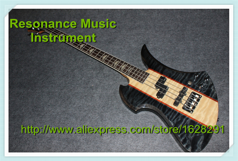 High Quality Mockingbird Model Rosewood Fingerboard 4 Strings B.C.Rich Electric Bass Guitar Maple Neck with Active Pickups savarez 510 cantiga series alliance cantiga normal high tension classical guitar strings full set 510arj