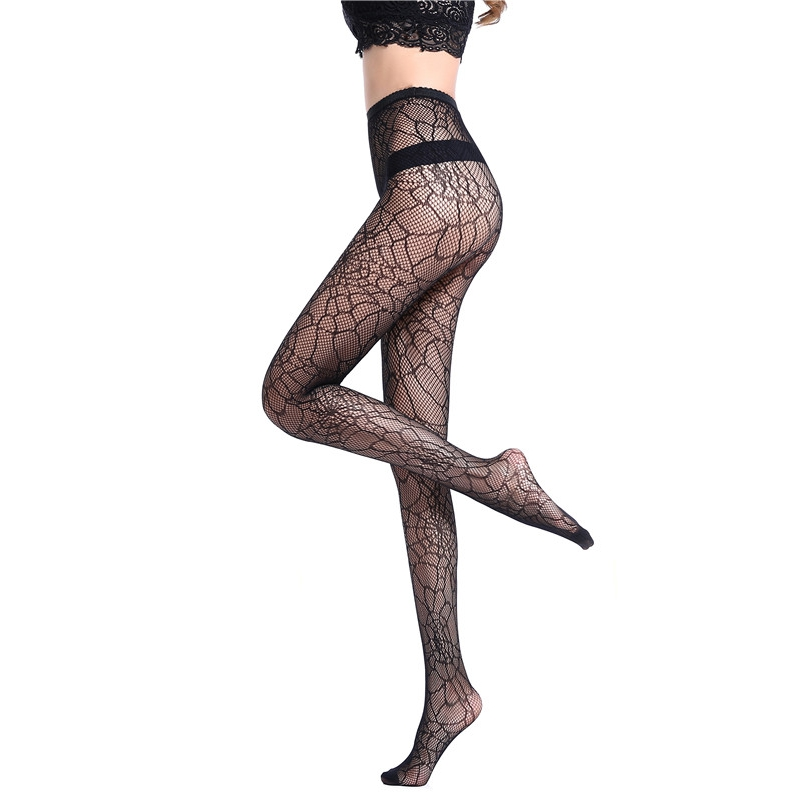 Black Sexy Charming Spider Web Pattern Small Fishnet Pantyhose New Charming Fashion Women Tights Stocking Hot Sell 2018