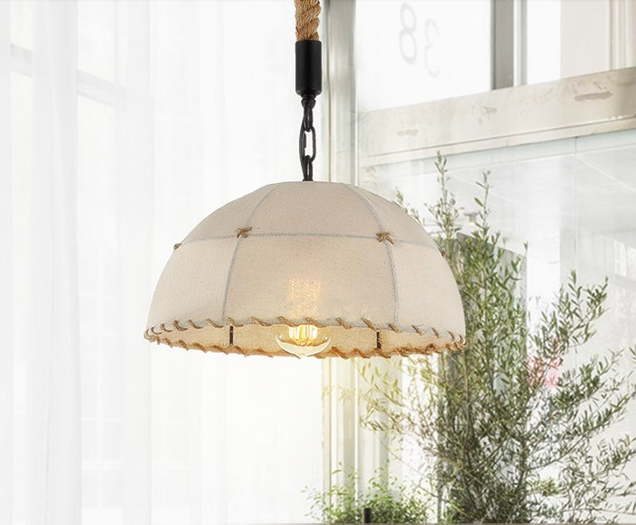 Loft&Warm rustic fabric iron art pendant lights Industrial style rope line E27 LED hang lamp for cafe&porch&stairs&bar CYDD044 art deco vintage industrial metal wire cage pendant light guard rustic ceiling mounted lamp cafe pub hotel porch bar