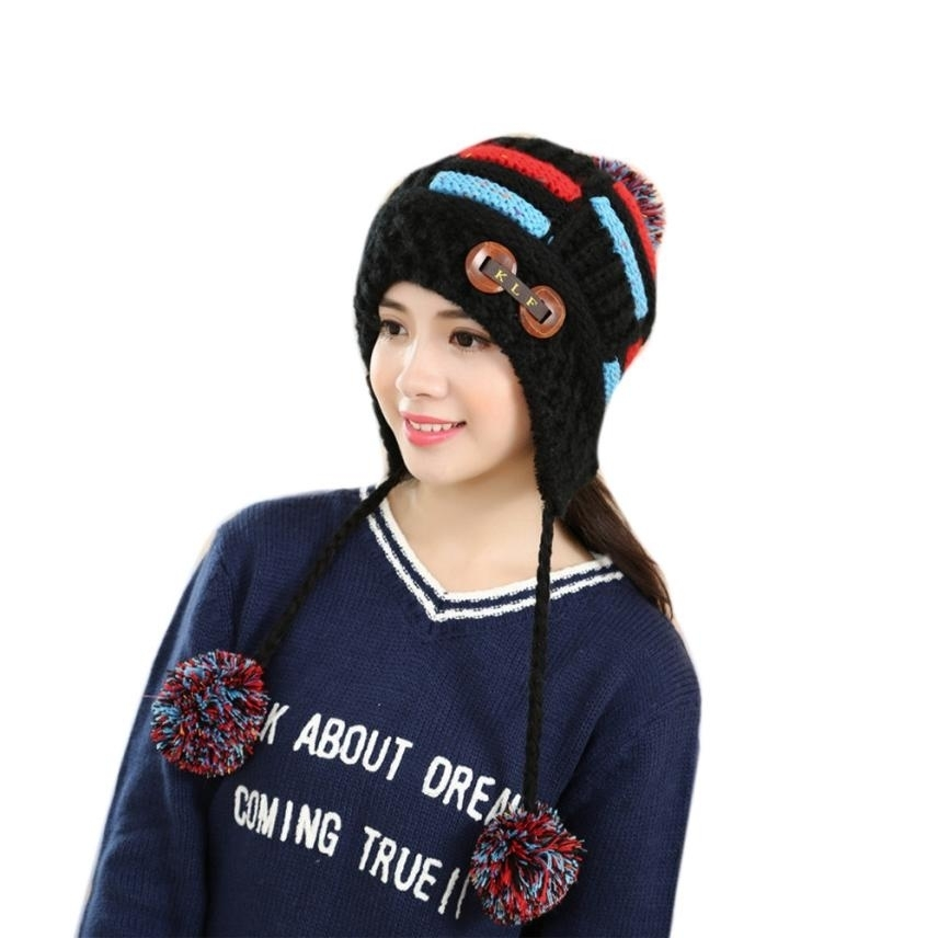 Skullies Beanies For Women Winter Warm Braided Crochet Wool Knit Hat Beret Ski Beanie Cap Warm Spring Autumn Hat Female WSep21 simplee knitting wool ball skullies beanies casual streetwear warm hat cap women autumn winter 2017 cute beanie hat female