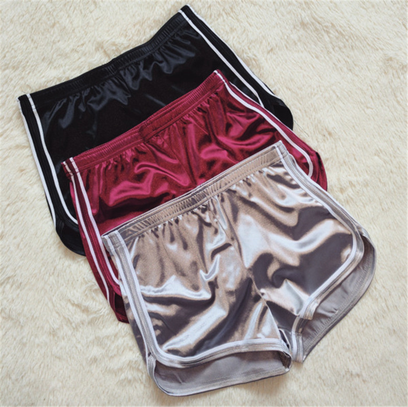 New Summer Women Shorts Silk Slim Beach Casual Egde Shorts Solid Color Loose Mid Elastic Waist Sexy Shorts
